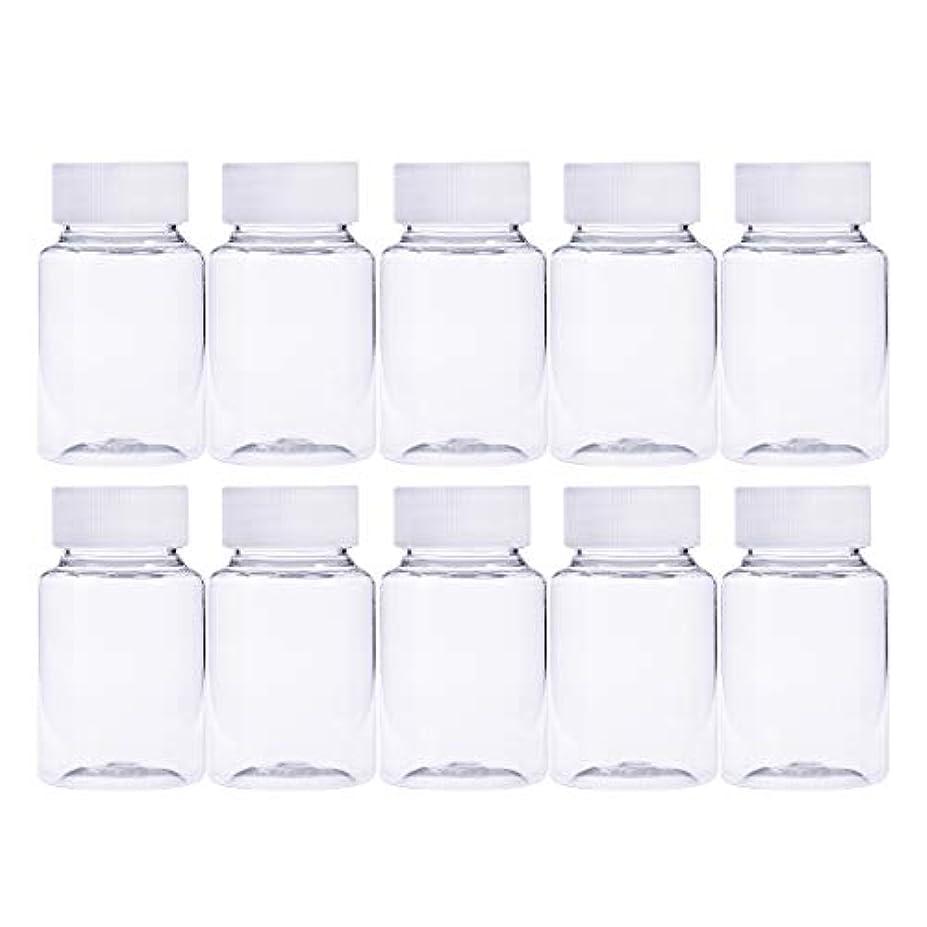 概要悲しむ寄託Frcolor 12個 80ml 小分けボトル 広口 クリア 詰め替え容器 薬保存 ビーズ収納 液体 化学薬品収納ボトル 化粧小分け容器 プラスチック容器
