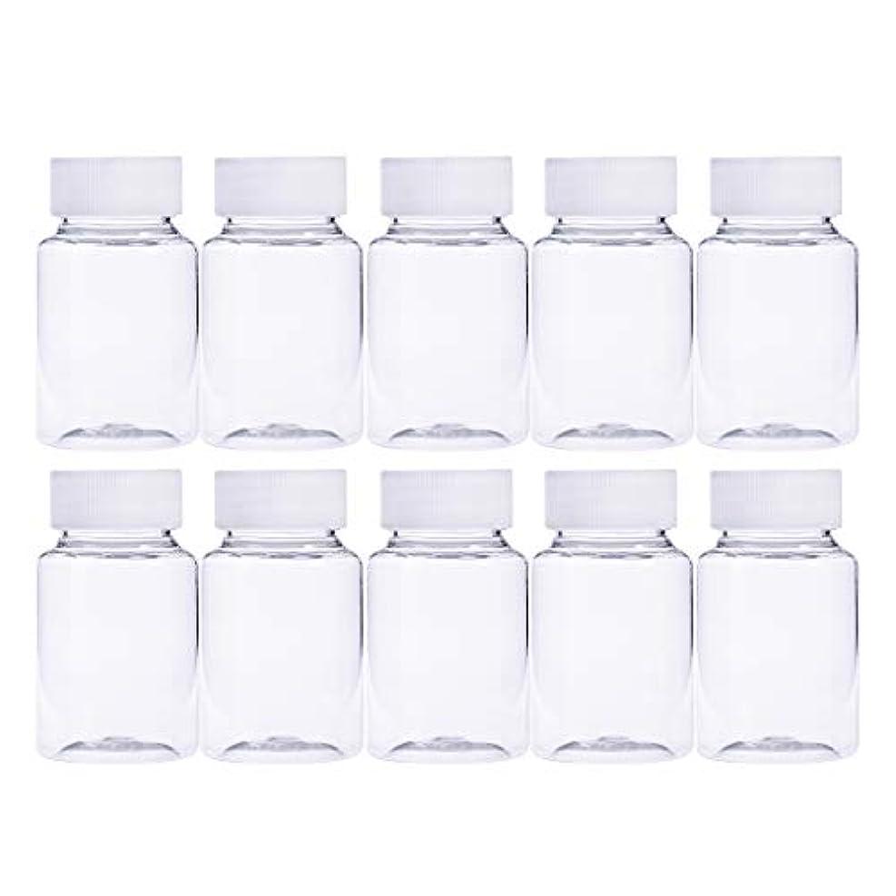 回転させる高齢者憂慮すべきFrcolor 12個 80ml 小分けボトル 広口 クリア 詰め替え容器 薬保存 ビーズ収納 液体 化学薬品収納ボトル 化粧小分け容器 プラスチック容器