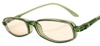 純日本製 ナチュラルサングラス・SABAEシリーズ【フォレスト・グリーン】メガネ拭き付き 鯖江製 PCメガネ JAPAN