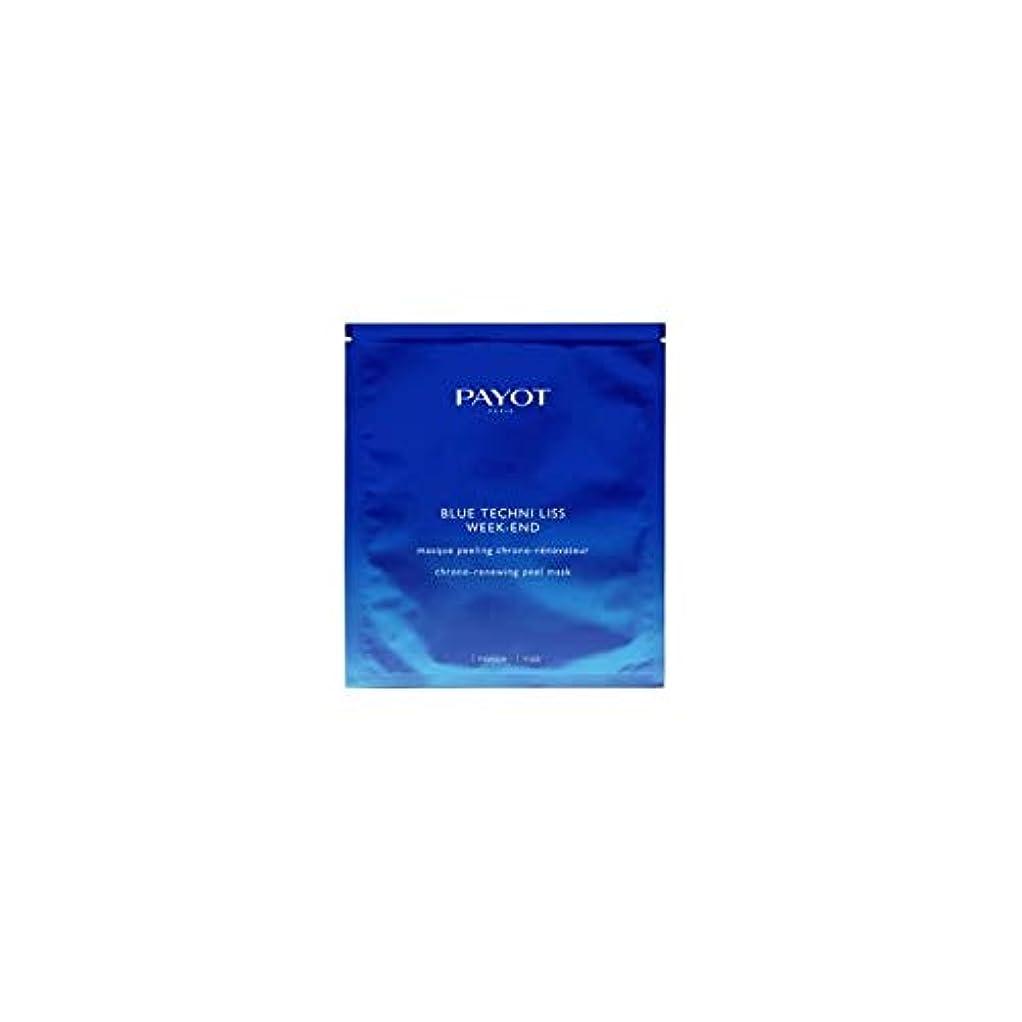 試用一過性世界的にパイヨ Blue Techni Liss Week-End Chrono-Renewing Peel Mask 10pcs並行輸入品