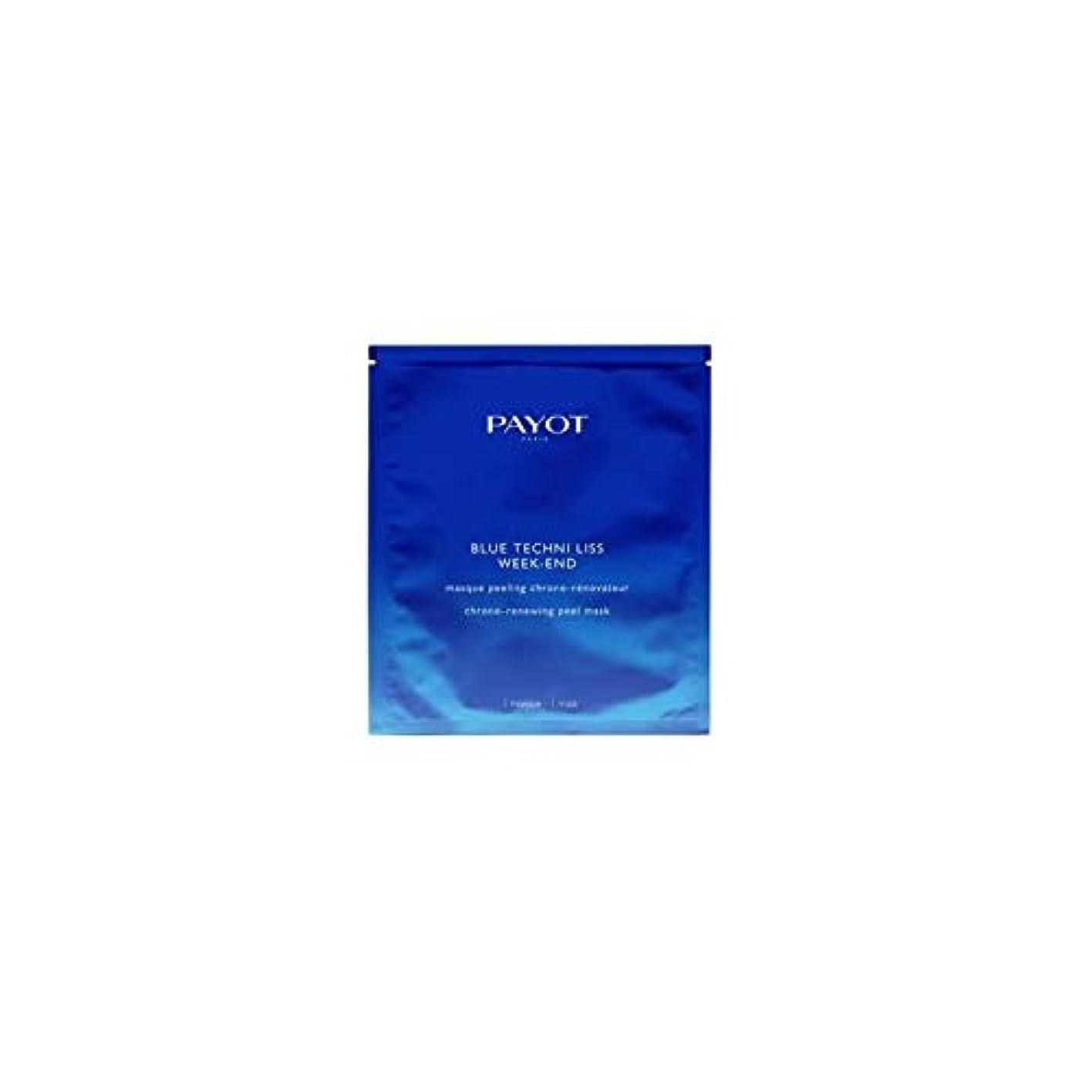 止まる厚い備品パイヨ Blue Techni Liss Week-End Chrono-Renewing Peel Mask 10pcs並行輸入品