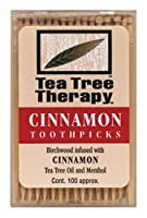 Cinnamon Tea Tree Toothpicks 100ct by Tea Tree Therapy