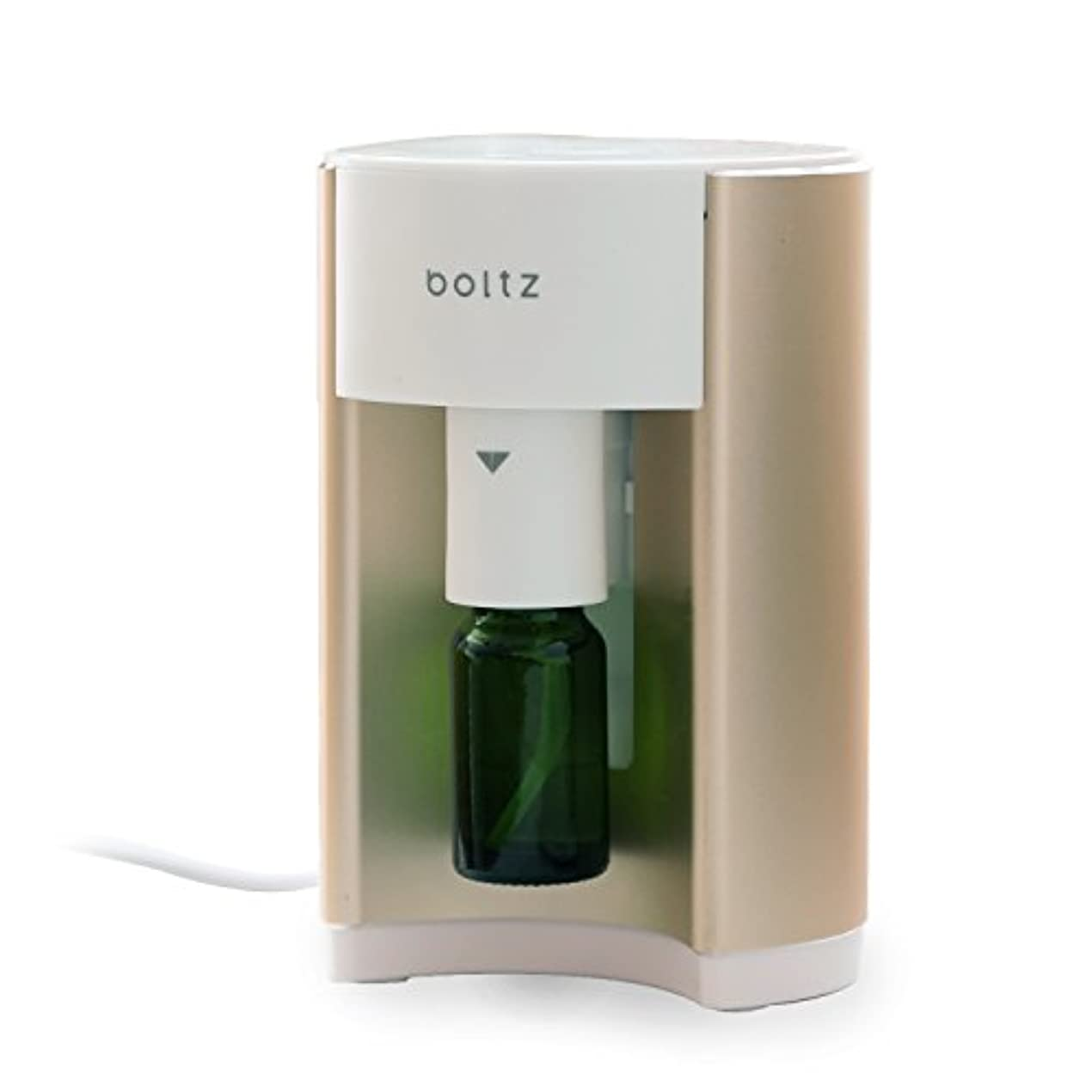 大脳換気略語boltz アロマディフューザー アロマバーナー ルームフレグランス 専用ボトル付 タイマー付き ゴールド