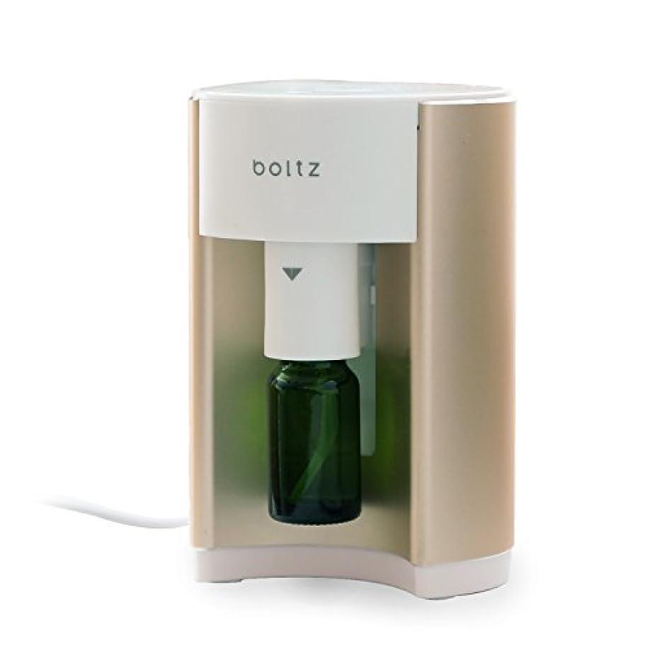 噴水寄付する雇用boltz アロマディフューザー アロマバーナー ルームフレグランス 専用ボトル付 タイマー付き ゴールド