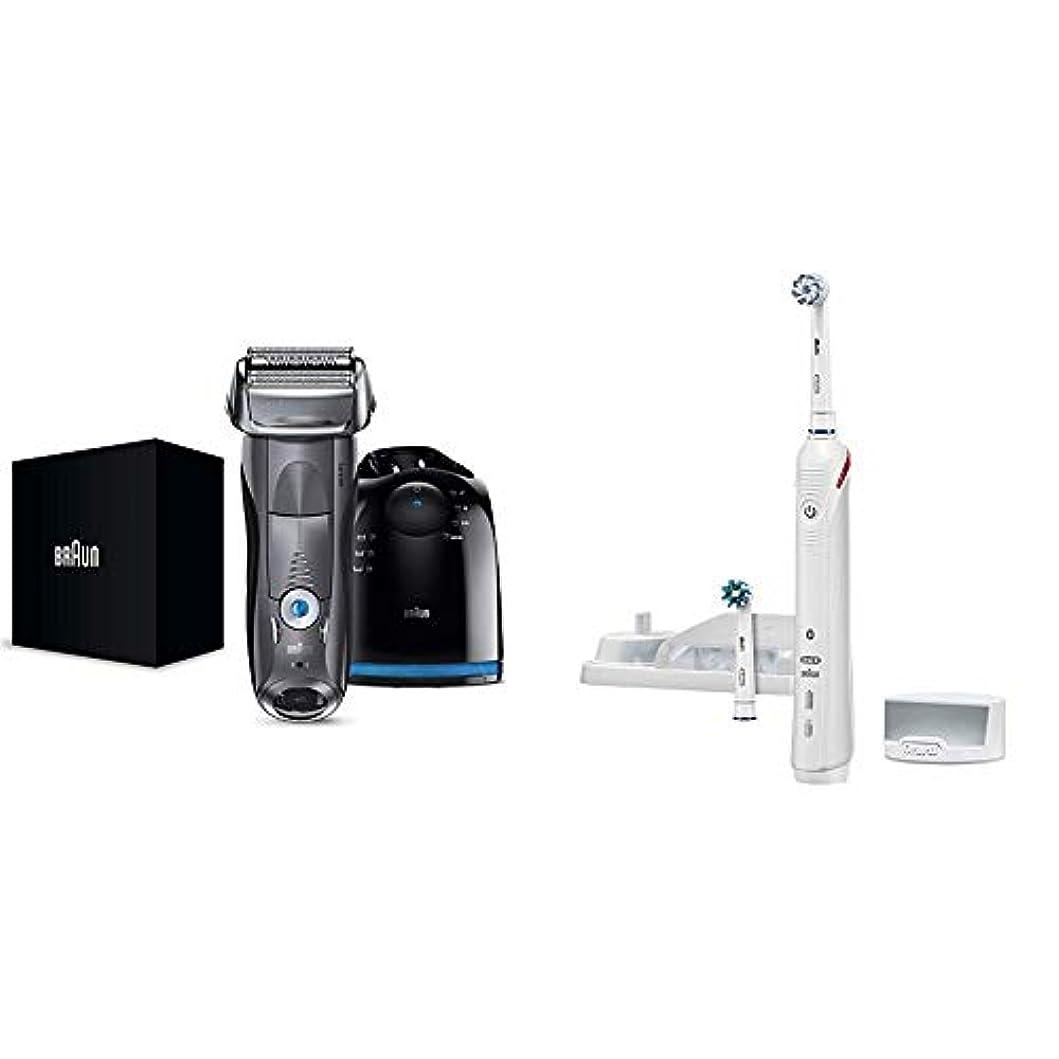 一流古代代わりに【Amazon.co.jp 限定】ブラウン メンズ電気シェーバー シリーズ7 7867cc 4カットシステム 洗浄機付 水洗い/お風呂剃り可 & ブラウン オーラルB 電動歯ブラシ スマート4000 D6015253P