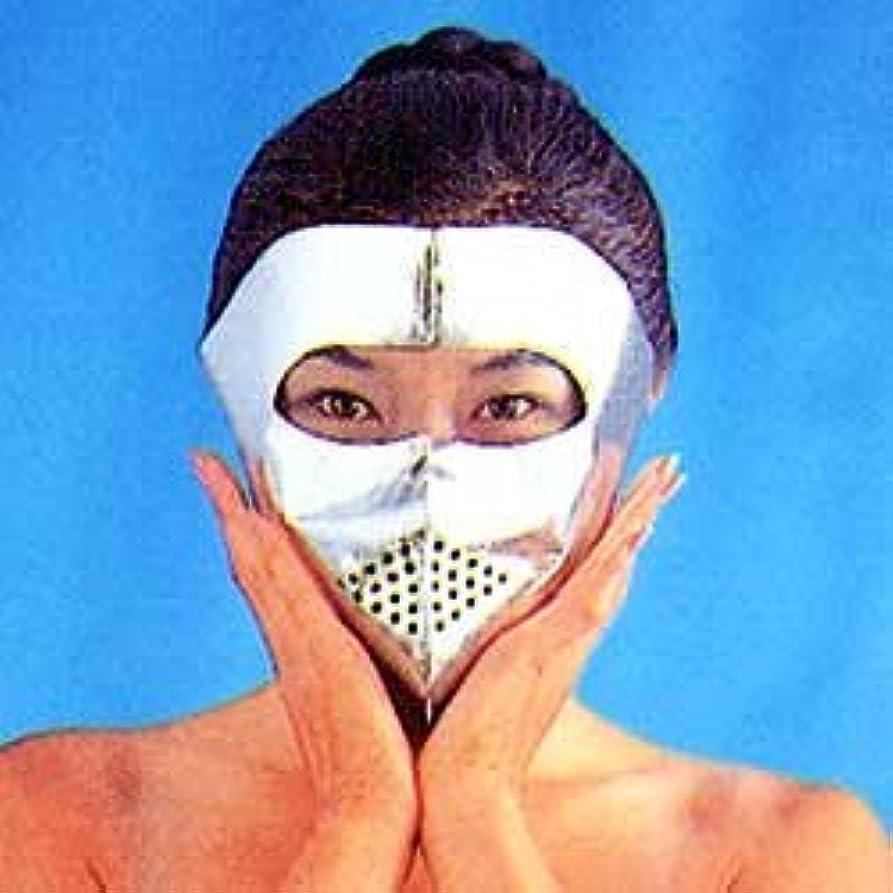 実業家葉を拾う彫るアルミサウナマスク×2
