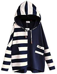 レディース 森ガール 服 長袖 フード付き パーカー 大きいサイズ 春 秋 冬 シンプル ゆったり プルオーバー 黒 ネービー