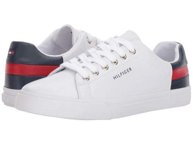 電極線けん引[トミー ヒルフィガー] レディース 女性用 シューズ 靴 スニーカー 運動靴 Laddin - White/Red/Deep Baltic [並行輸入品]