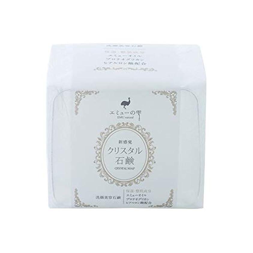 飾り羽明らかに横たわるエミューの雫 クリスタル石鹸 100g×3個セット