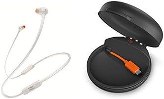 JBL T110BT Bluetoothイヤホン ホワイト + HPCC チャージングケース ブラック セット [JBLT110BTWHTJN + JBLHPCCBLK]