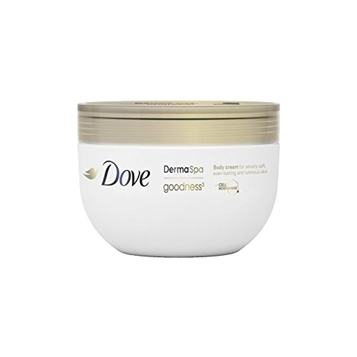 すべて落ち着く姪鳩の3ボディクリーム(300ミリリットル) x4 - Dove DermaSpa Goodness3 Body Cream (300ml) (Pack of 4) [並行輸入品]