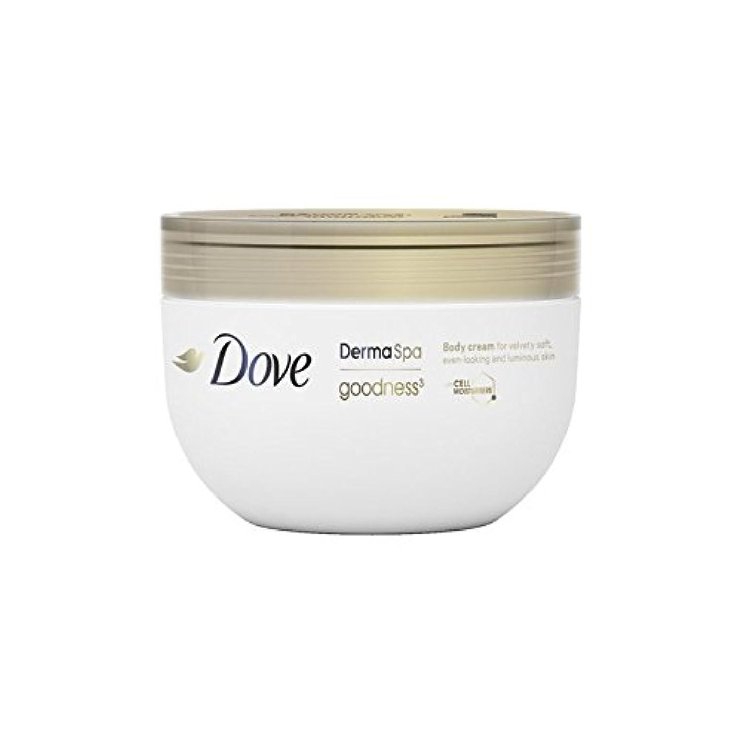 縮約表面取得鳩の3ボディクリーム(300ミリリットル) x4 - Dove DermaSpa Goodness3 Body Cream (300ml) (Pack of 4) [並行輸入品]