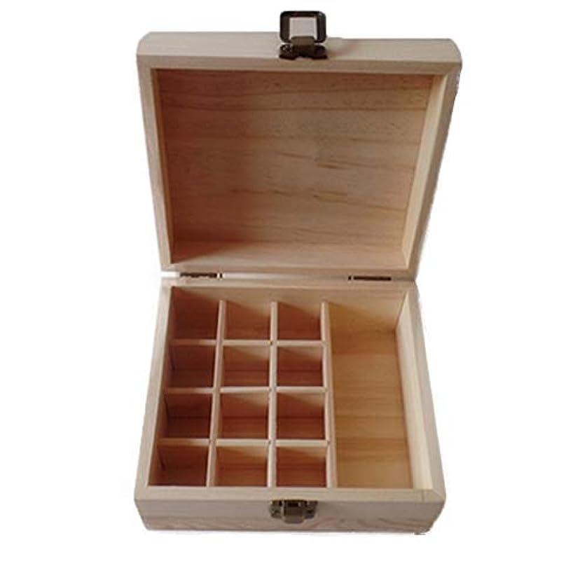 夢中報復するコックエッセンシャルオイルの保管 ディスプレイのプレゼンテーションのために完璧な13スロットエッセンシャルオイルストレージ木箱エッセンシャルオイル木製ケース (色 : Natural, サイズ : 15X16.9X8CM)