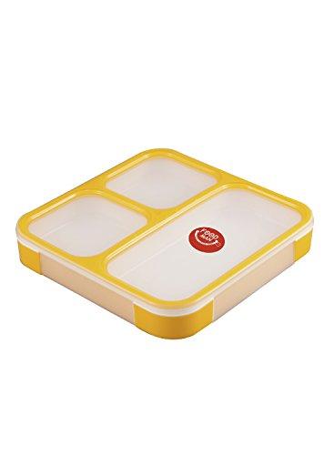 シービージャパン 弁当箱 イエロー 薄型 フードマン 800ml DSK