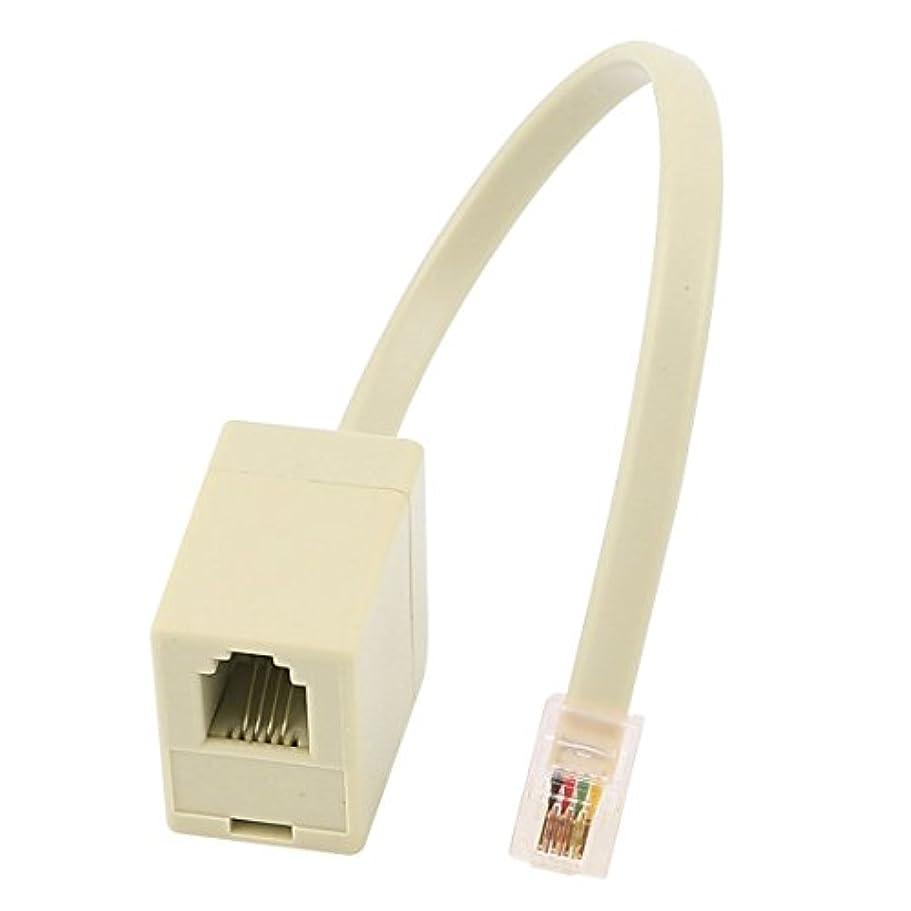 振るう制約上向きuxcell RJ9電話アダプター メスコネクタ スプリッタカーキ プラスチック カーキ 4P 4C オス