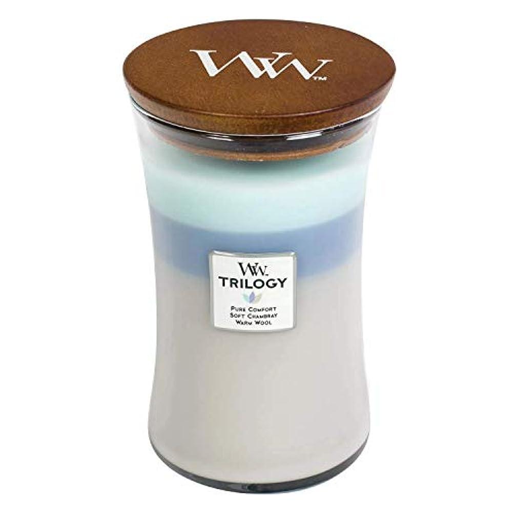 ゆでるヒロイック素子Woven Comforts WoodWick Trilogy 22オンス香りつきJarキャンドル – 3 in 1つ