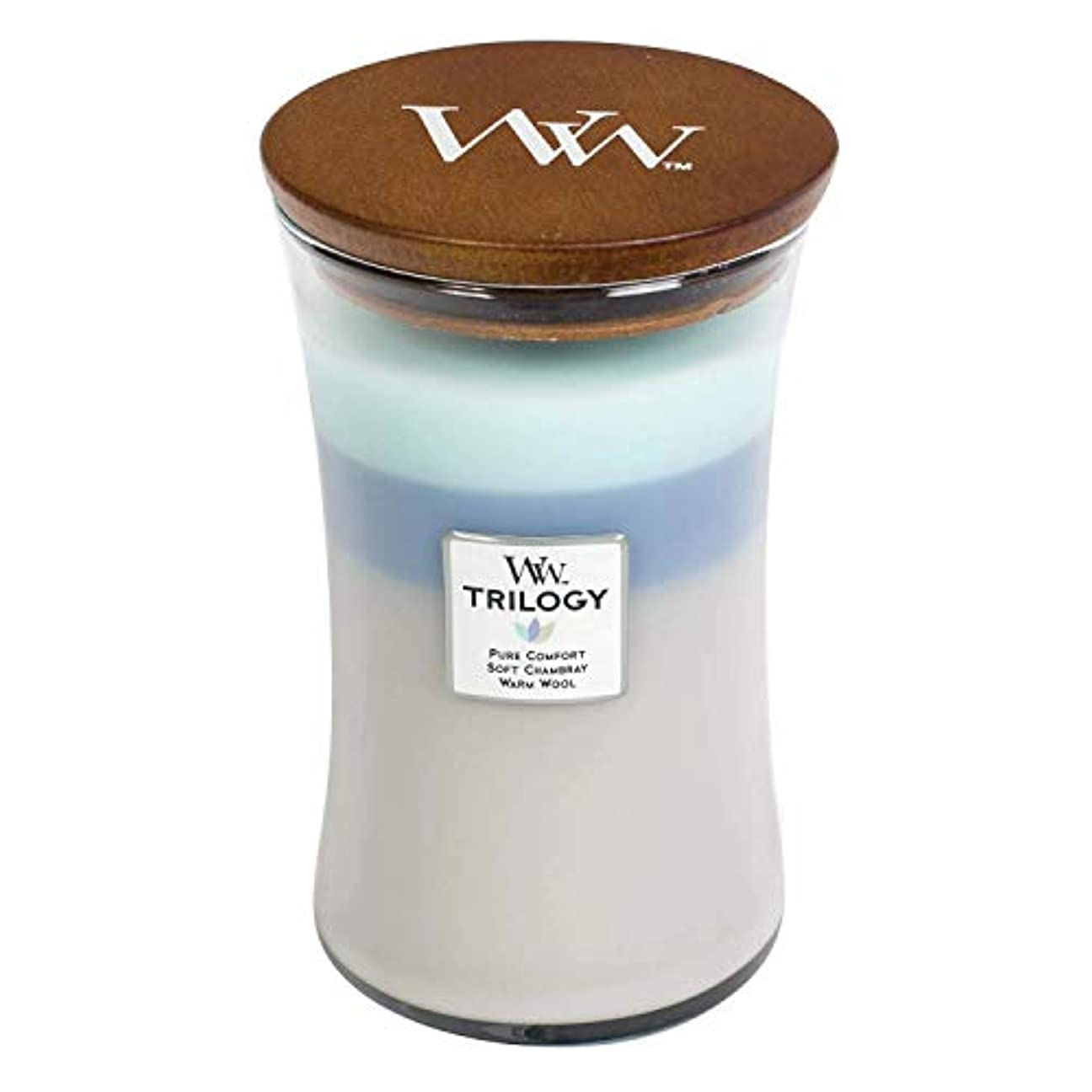 Woven Comforts WoodWick Trilogy 22オンス香りつきJarキャンドル – 3 in 1つ