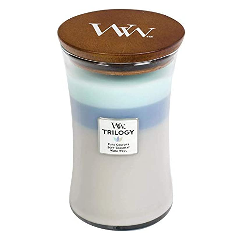 知らせるわざわざバルクWoven Comforts WoodWick Trilogy 22オンス香りつきJarキャンドル – 3 in 1つ