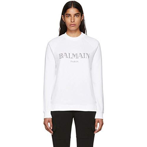 (バルマン) Balmain レディース トップス スウェット・トレーナー White Logo Sweatshirt [並行輸入品]