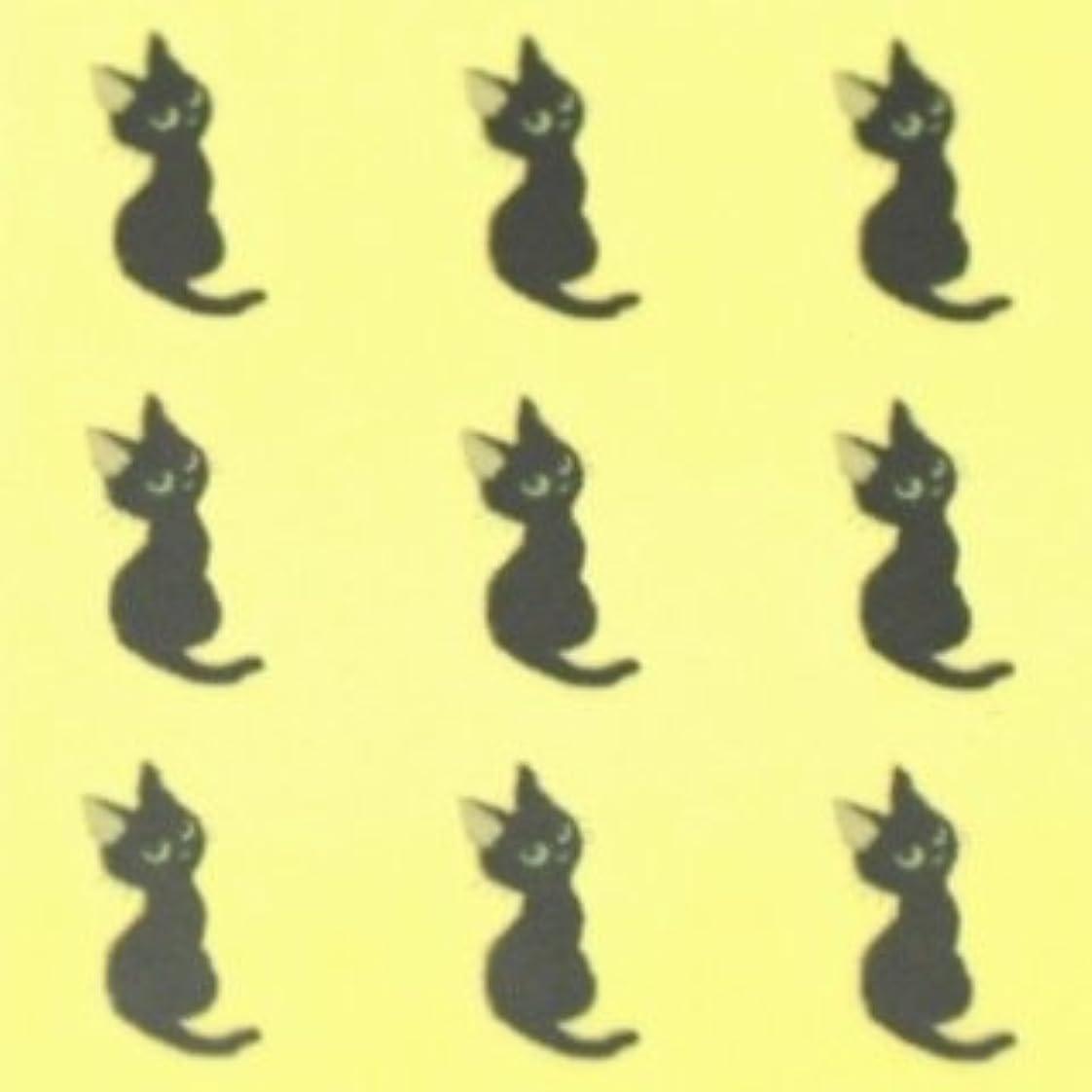 テセウス協同保護する動物(ネイルアートペイントシール)ネコ 1シート9枚入
