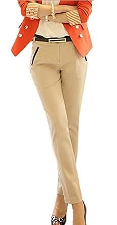 (ケイグラッソ)K-grasso+ レース 刺繍 シフォン ブラウス シャツ 半袖 長袖 きれいめ パンツ スーツ コーデ エレガント フラワー モチーフ パール M L XL 2XL 大きい サイズ もあり オフィス OL 通勤 (15.【パンツ】杏色 Mサイズ)