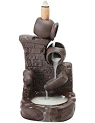 (Style 6) - Gift Pro Ceramic Backflow Incense Tower Burner Statue Figurine Incense Holder Incenses Not Included...
