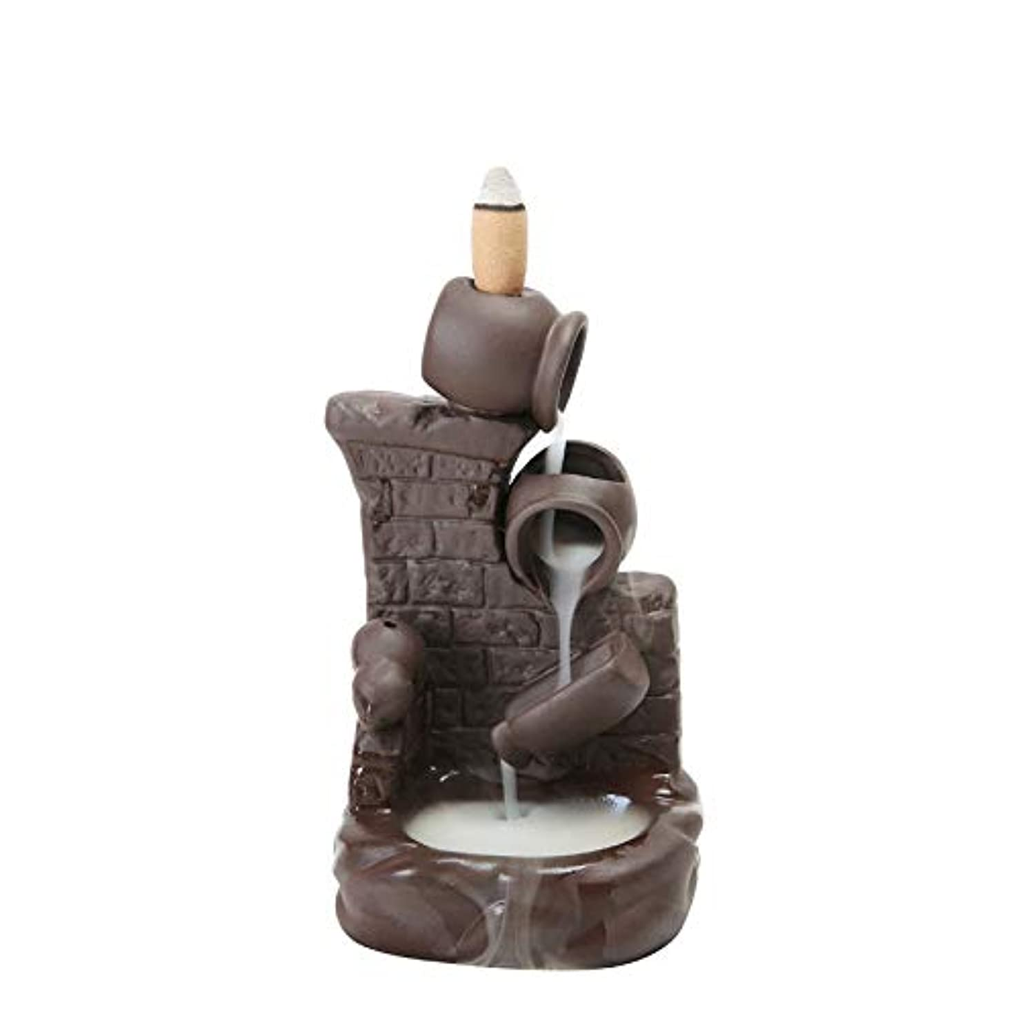 飽和する突破口貼り直す(Style 6) - Gift Pro Ceramic Backflow Incense Tower Burner Statue Figurine Incense Holder Incenses Not Included...