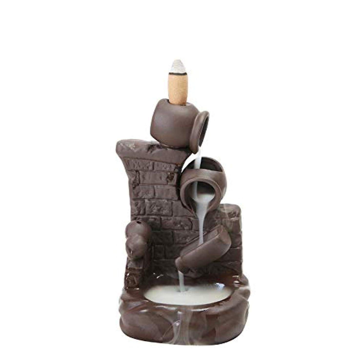 縁石本気フリース(Style 6) - Gift Pro Ceramic Backflow Incense Tower Burner Statue Figurine Incense Holder Incenses Not Included...