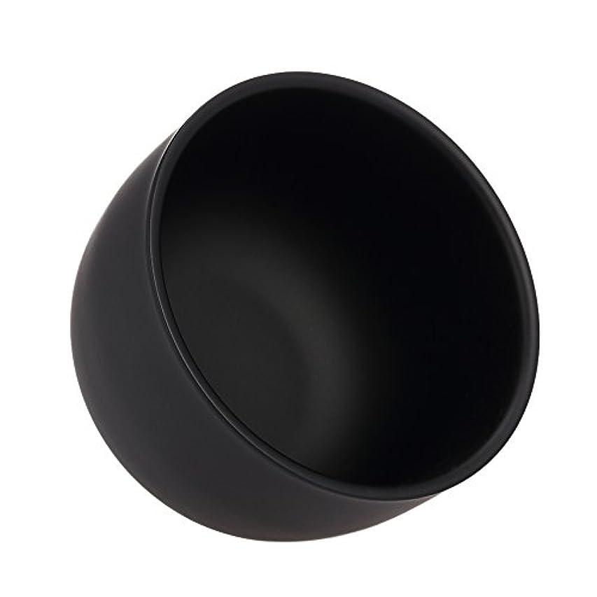 雑品黒くするグリースDecdeal シェービングブラシボウル シェービングマグ シェイプクリームソープボウル ステンレススチール 男性の顔クリーニングソープボウル