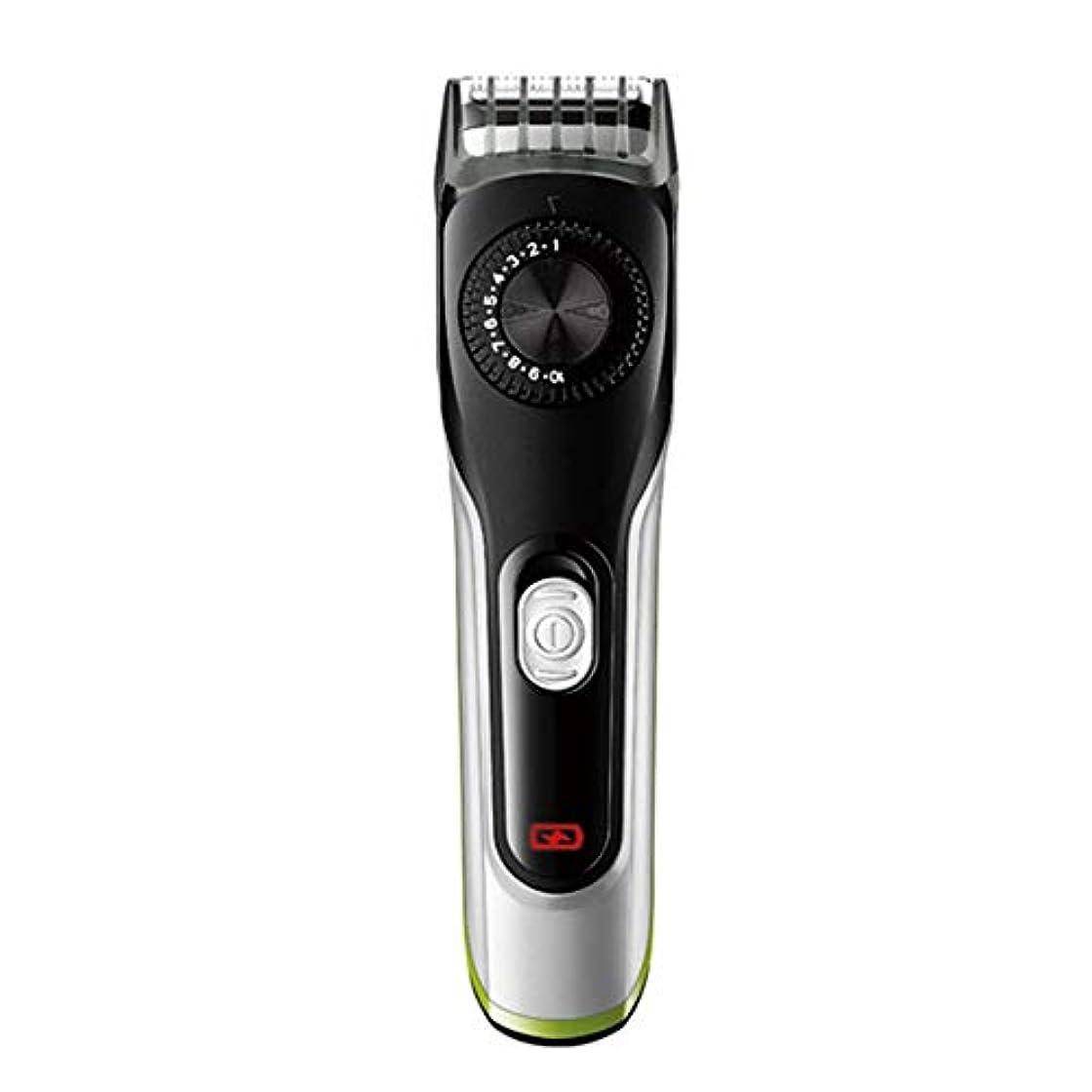 シンプトンドキドキ自伝バリカン、電気男性のセルフサービス低ノイズコードレスひげトリマー男性の髪カットのためのガイドコーム付き防水電気クリッパー