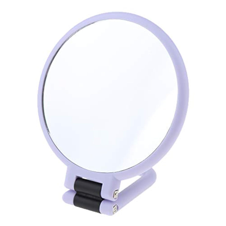 大脳できれば気分が悪い化粧鏡 メイクミラー 折り畳み式 卓上ミラー 手持ち型 トラベルミラー 全3サイズ - 2倍の拡大鏡