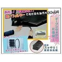 オープンキッチンに最適 レンジフードの溝用黒い給油テープ A-49-BF3 レンジフードの溝用 黒い吸油テープ5P×3セット
