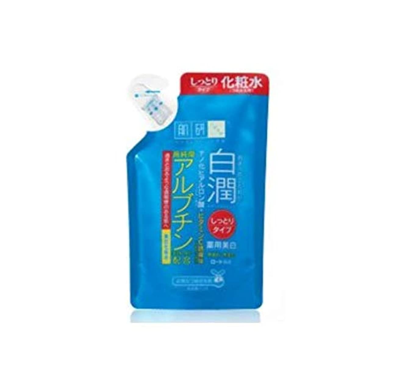 防水無一文状況肌ラボ 白潤 薬用美白化粧水 しっとりタイプ つめかえ用 170mL