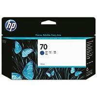 (まとめ) HP70 インクカートリッジ ブルー 130ml 顔料系 C9458A 1個 【×3セット】 ds-1578397