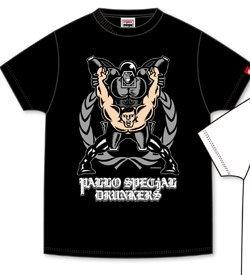 キン肉マン ウォーズマン パンクドランカーズ punkdrunkers コラボ Tシャツ XL パロスペ 黒2018 4 29トイフェスティバル会場限定販売