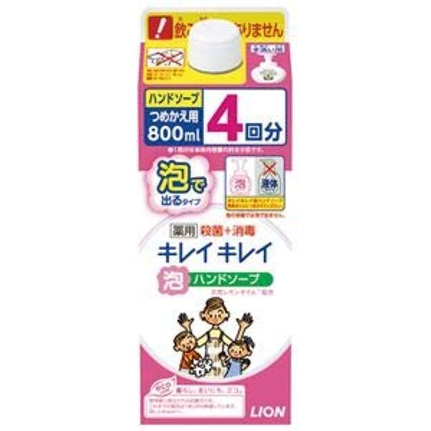 苦痛形しょっぱい(まとめ) ライオン キレイキレイ泡ハンドソープ 詰替 800mL【×10セット】