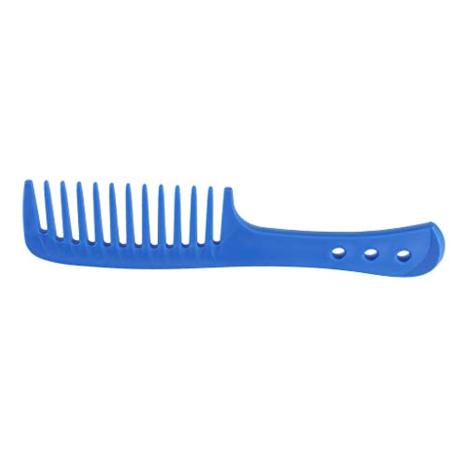 F Fityle ヘアコーム 櫛 美髪 ヘアブラシ ヘアケア ヘアスタイリング 4色選べ - 青