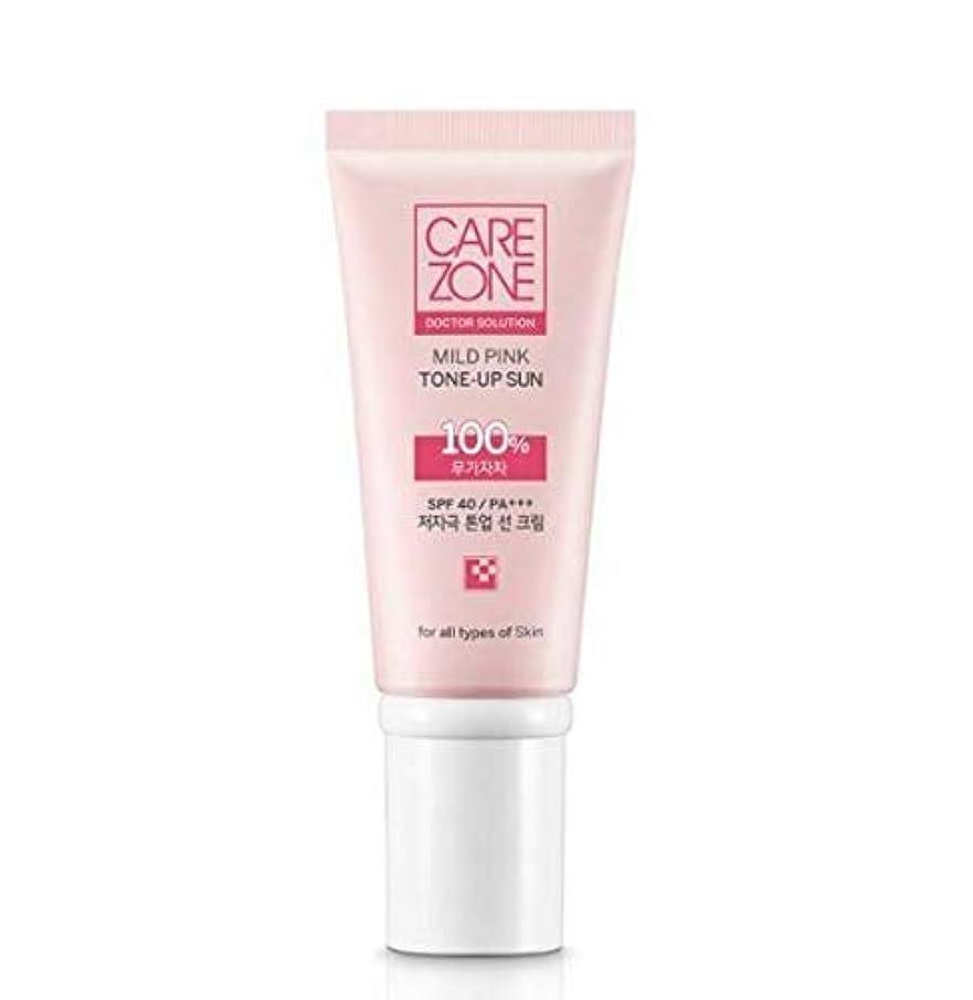 セットする手順ケアゾーン CAREZONE Doctor Solution マイルドピンクトーンアップサン 50ml SPF40/PA+++ Mild Pink Tone-Up Sun