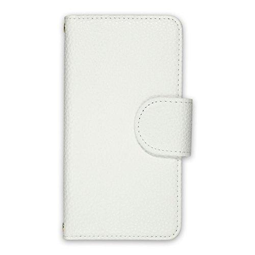 whitenuts URBANO V01 KYV31 ケース 手帳型 レザー風 01 ホワイト スマホケース 手帳 WN-OD218412_MX