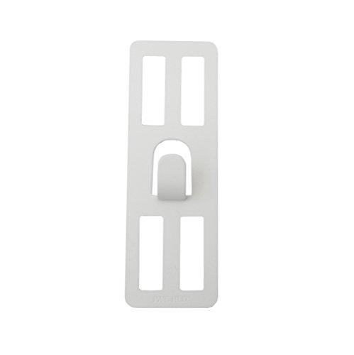 RoomClip商品情報 - 壁美人 ホチキスで取付壁掛けフック 石膏ボード用固定金具 P-4 ホワイト 痕が目立たない 2枚セット P-4Shw