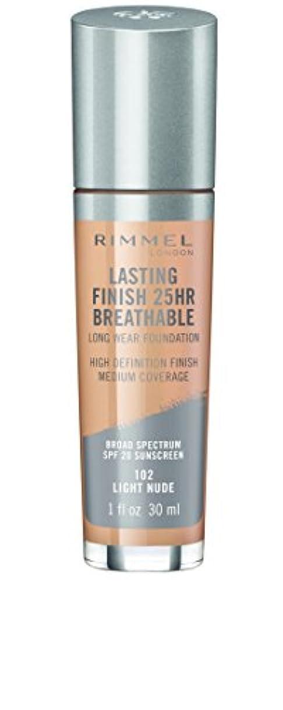ボア完全にわかるRIMMEL LONDON Lasting Finish 25hr Breathable Foundation - Light Nude (並行輸入品)
