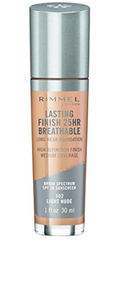 コンパクトリアルフォーマルRIMMEL LONDON Lasting Finish 25hr Breathable Foundation - Light Nude (並行輸入品)