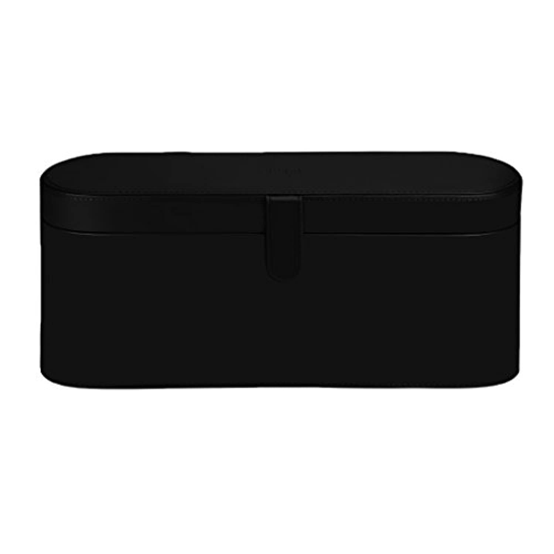 Perfk ヘアドライヤー収納ケース 耐熱 収納ケース 収納 シンプル デザイン マグネットフリップクロージャー 3色選べる - ブラック