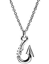 [REOTTI] 釣り針ネックレス メンズ シルバー フィッシュフック 925 チェーン付 silver necklace