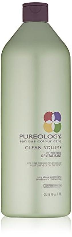 屈辱するキャンペーン土器Pureology クリーンボリュームコンディショナー、33.8液量オンス 33.8 fl。オンス 0