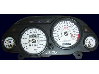オダックス(Odax)  ELメーターパネル AC type ホワイトパネル ZZR400 ZX400(96-) OXP-311037-AC