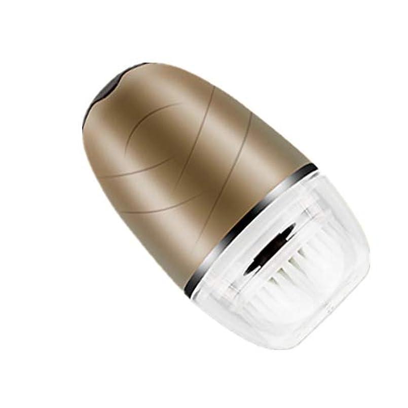 ダイアクリティカル驚くべきイタリアのシリコン洗顔ブラシエレクトリック顔ブラシにきびスクラバー敏感な、繊細な、ポータブル/クレンジングのためのアンチエイジングスキンケア防水エッセンスのインポート (Color : ゴールド)
