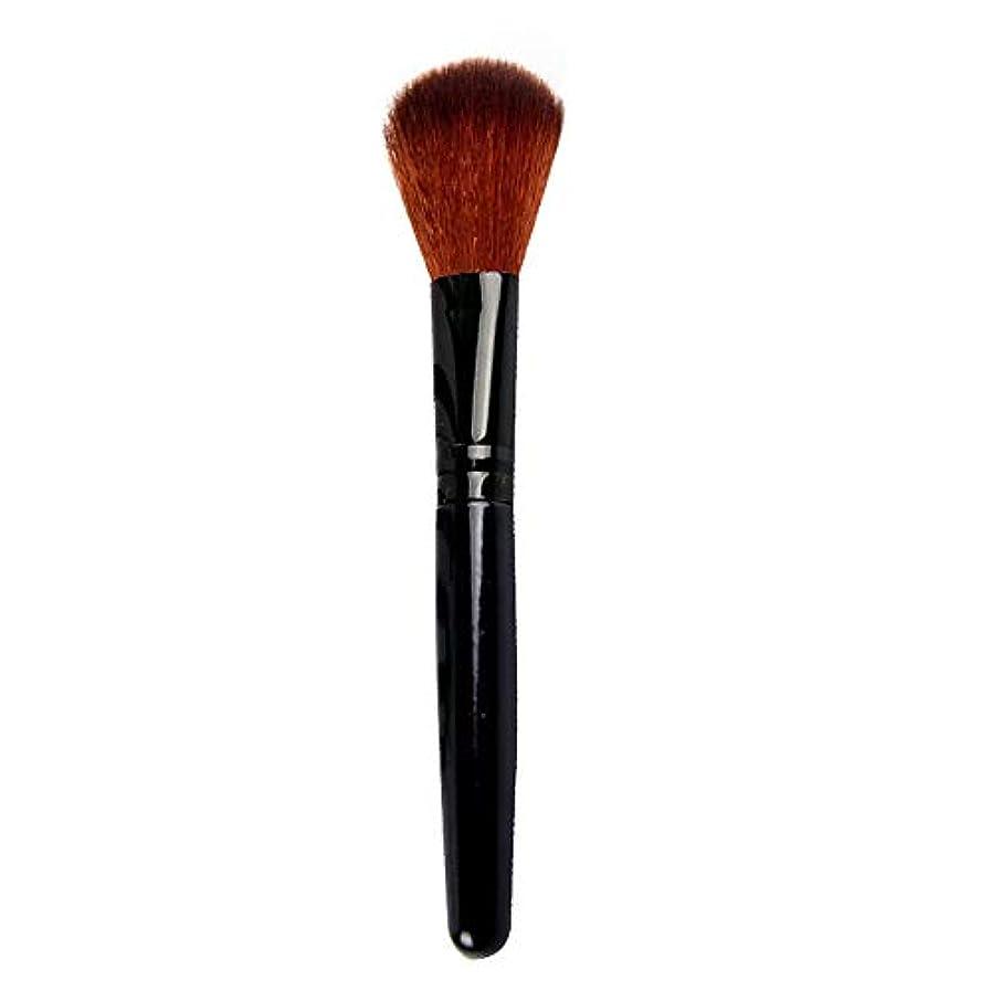中世の控えめな通訳メイクブラシ 化粧筆1本 化粧ブラシファンデーション柔らかい 多機能高級繊維毛 チークス フェイスパウダー ルースパウダー
