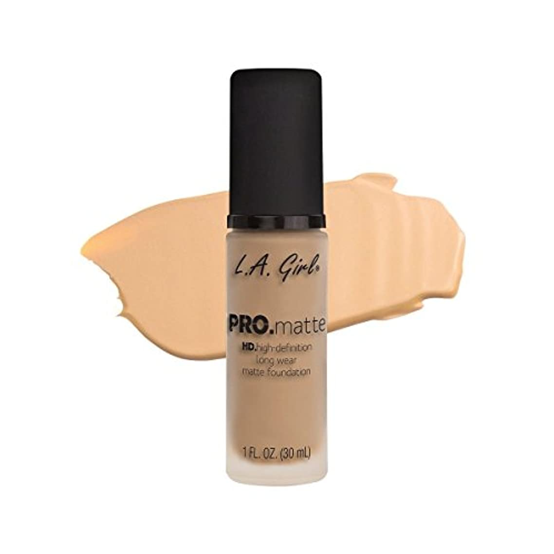 ボールばかげた保持(3 Pack) L.A. GIRL Pro Matte Foundation - Bisque (並行輸入品)