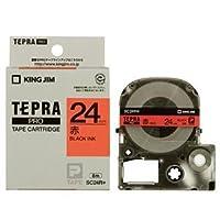 (まとめ) キングジム テプラ PRO テープカートリッジ パステル 24mm 赤/黒文字 SC24R 1個 【×4セット】 〈簡易梱包